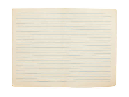 blank double page from notebook Stock Photo - 14253078