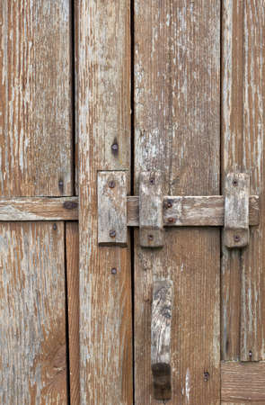 old wooden lock photo