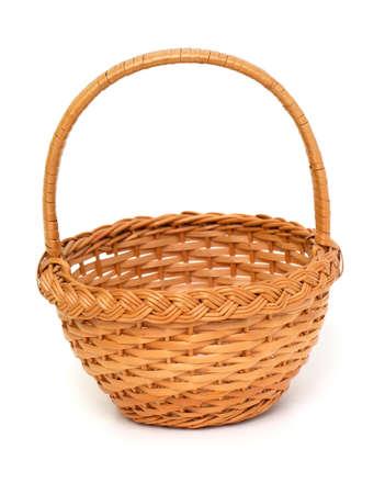 interleaved: basket isolated on white background Stock Photo