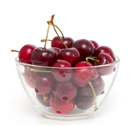 cherry in a bowl isolated on white Stock Photo - 14446784