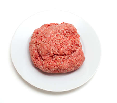 minced meat isolated on white backgourn