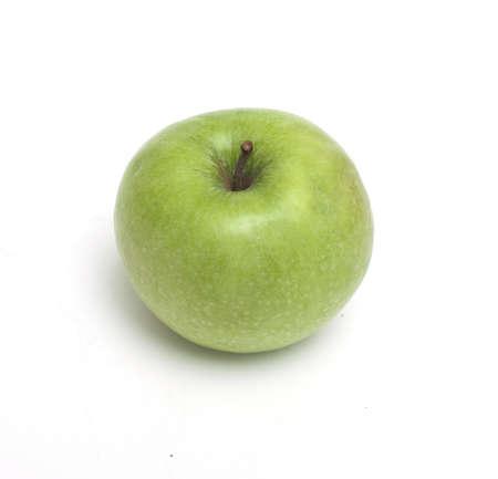manzana verde sobre blanco Foto de archivo - 14446368