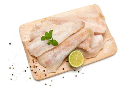 frozen pollock and spices photo