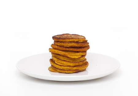pumpkin pancakes isolated photo