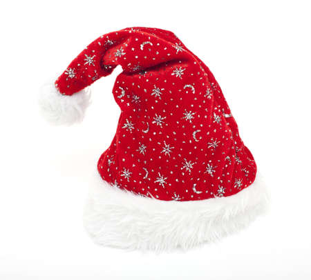 Santas hat isolated photo