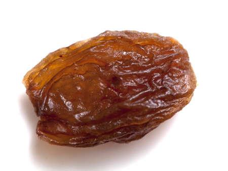 sultana:  raisins (sultana) isolated on white