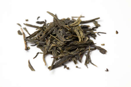 green tea isolated on white Stock Photo - 14464797