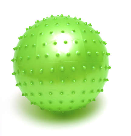 spiked: spiky green ball on white