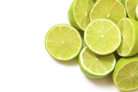 lime halfs and empty space for your text photo