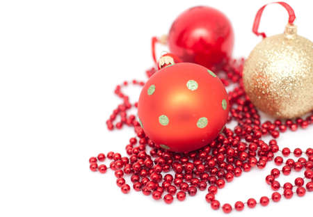 christmas balls isolated photo