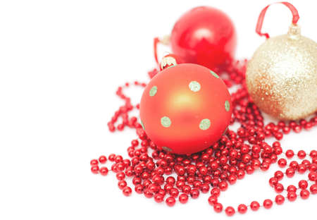 christmas balls isolated photo