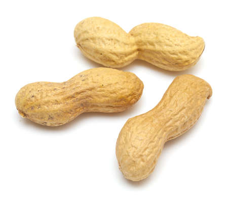 goober: Peanuts  on a white background