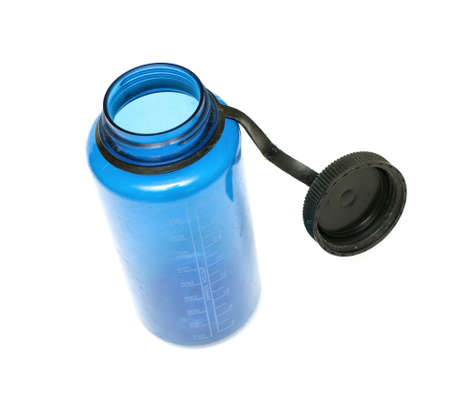 open blue plastic flask Stock Photo - 14509158