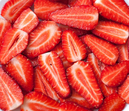 pices: strawberry slices background