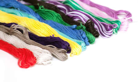 multicolored cotton threads and empty space for your text Stock Photo - 14509255