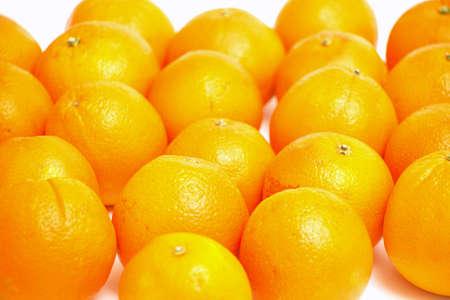oranges over white photo