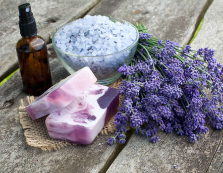 lavender cosmetics Stock Photo - 14647963