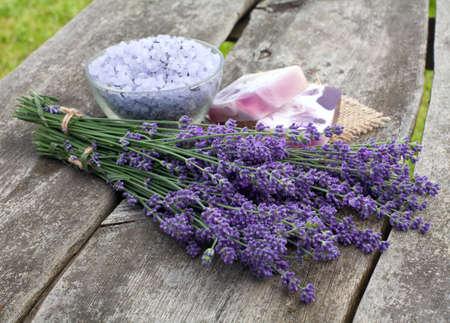 lavender bath sea salt and soap Stock Photo - 14647884