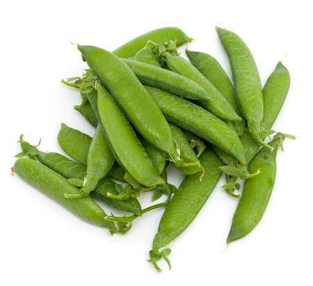 pea pods isolated on white background Stock Photo - 14647384