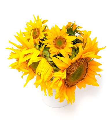 sunflowers in a vase photo