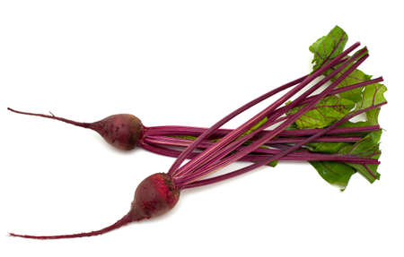 fresh beet root isolated on white backgorund photo