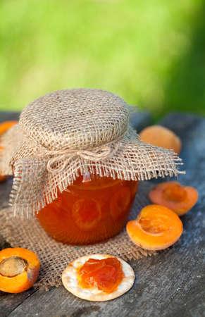 fresh apricot jam photo