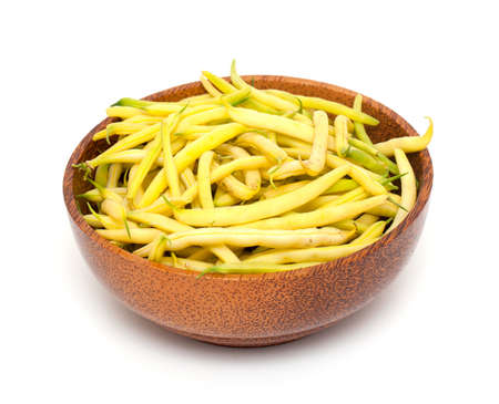 yellow beans in a bowl isolated on white background Stock Photo - 14814218