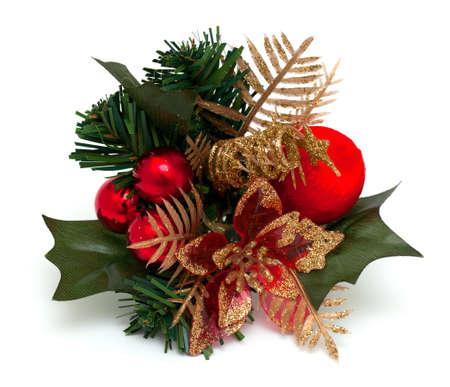 christmas berries: Decorazioni di Natale su bianco Archivio Fotografico