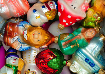 Colorful Christmas Toys in a box photo