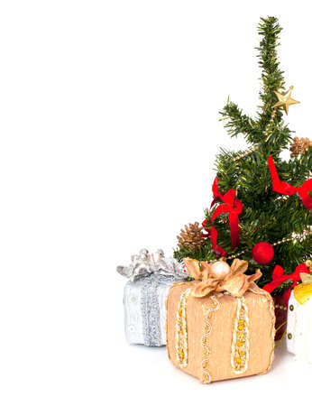 Christmas tree and gifts photo