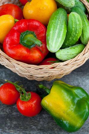 ebony wood: fresh vegetables Stock Photo