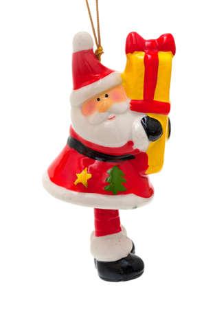 festones: Santa Claus juguete aislado en blanco