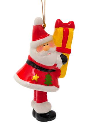 festoons: Santa Claus toy isolated on white