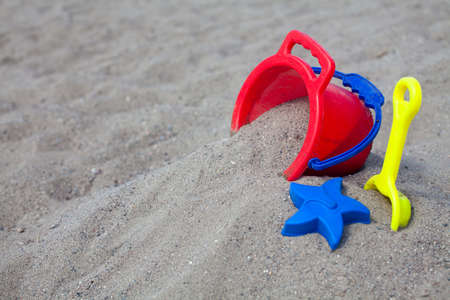 beach toys on sand Stock Photo - 15523948