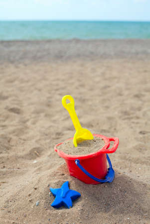 beach toys on sand Stock Photo - 15523950