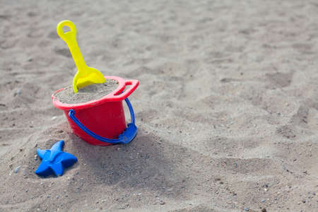 beach toys on sand Stock Photo - 15523946