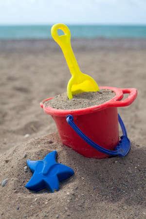 beach toys on sand Stock Photo - 15456294