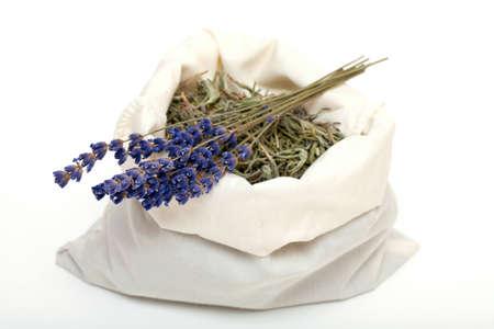 lavendin: dreid lavender leafs Stock Photo