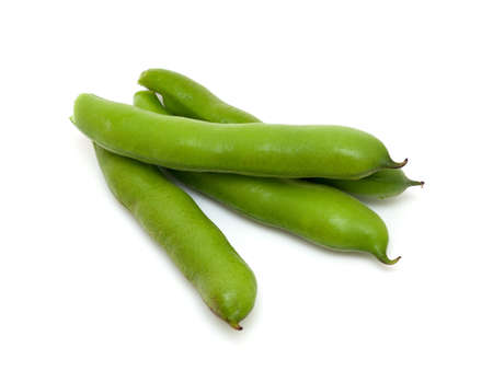 fave bean: broad beans isolated on white background
