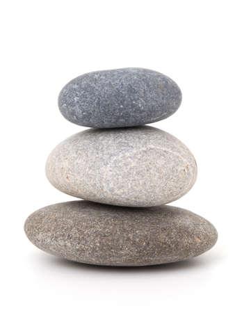 stone pile: stones isolated on white background Stock Photo