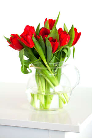 red tulips photo