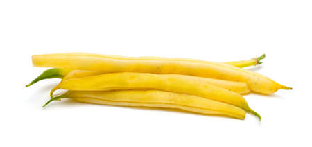long beans: yellow string beans Stock Photo