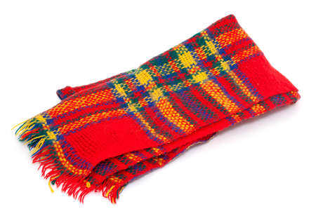 fale: colorful wool scarf isolated on white background Stock Photo