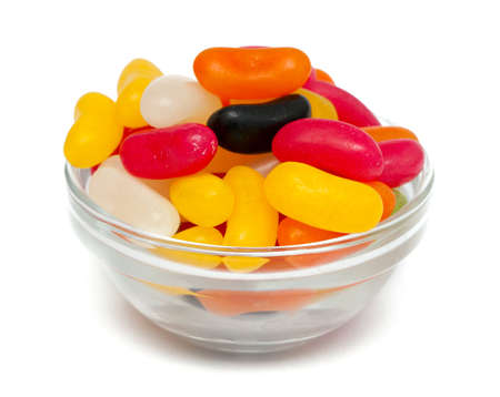 jelly bean candies over white photo