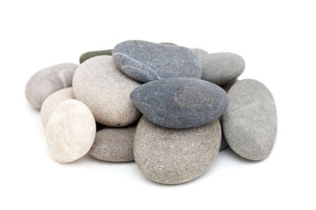 sea stones isolated on white background photo