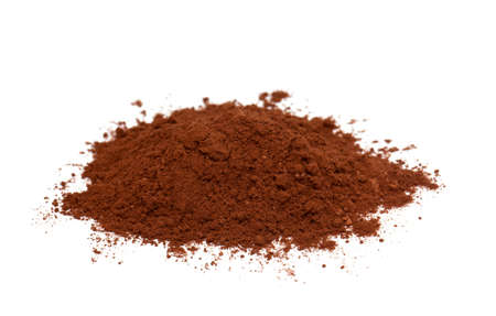cocoa powder isolated on white background photo