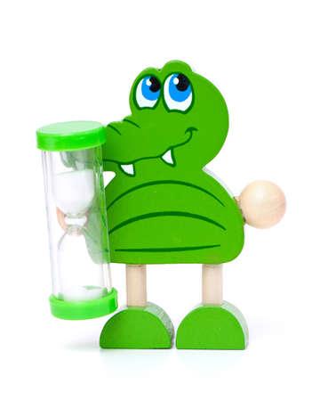 kinder: Sandglass per kinder isolato su sfondo bianco
