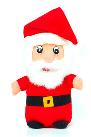 Santa Claus toy isolated on white photo