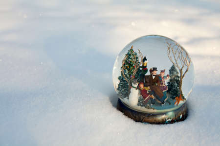 snow globe and empty space for your text photo