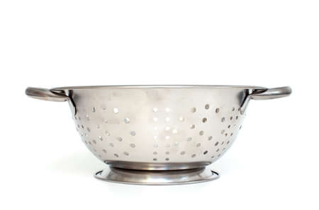 Single strainer on a white background photo
